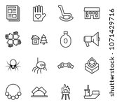 flat vector icon set  ... | Shutterstock .eps vector #1071429716