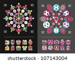 icons and infographics | Shutterstock .eps vector #107143004
