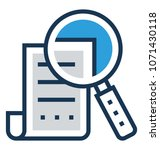 search file flat and line icon ... | Shutterstock .eps vector #1071430118