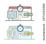website speed loading time... | Shutterstock .eps vector #1071431000
