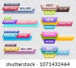 set of trendy abstract... | Shutterstock .eps vector #1071432464