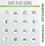 post service flat icons set for ... | Shutterstock .eps vector #1071433868