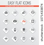 post service icons set for web... | Shutterstock .eps vector #1071433874