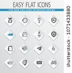 post service flat icons set for ... | Shutterstock .eps vector #1071433880