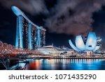 april 2018   singapore   view... | Shutterstock . vector #1071435290