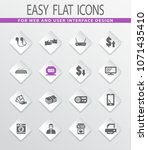 pawn shop vector icons for user ... | Shutterstock .eps vector #1071435410
