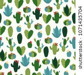 vector seamless pattern with... | Shutterstock .eps vector #1071435704