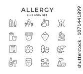 set line icons of allergy | Shutterstock .eps vector #1071441899