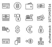 flat vector icon set   credit... | Shutterstock .eps vector #1071443516
