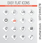 mobile connection flat icons... | Shutterstock .eps vector #1071444278