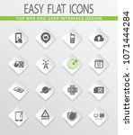 mobile connection flat icons... | Shutterstock .eps vector #1071444284