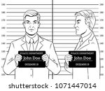 arrested man photo in police... | Shutterstock .eps vector #1071447014