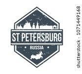 saint petersburg russia travel... | Shutterstock .eps vector #1071449168