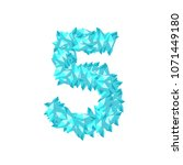the letter number five or 5  in ... | Shutterstock .eps vector #1071449180
