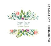 square decoration element with... | Shutterstock .eps vector #1071449819