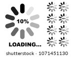 progress loading icons set ... | Shutterstock .eps vector #1071451130