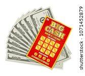 scratch lottery card big cash... | Shutterstock .eps vector #1071452879