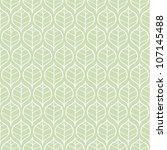seamless green leaf pattern | Shutterstock . vector #107145488