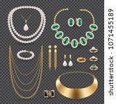 jewelry accessories realistic... | Shutterstock .eps vector #1071455189