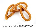 traditional spanish churros... | Shutterstock . vector #1071457640