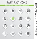 real estate vector icons for... | Shutterstock .eps vector #1071468620