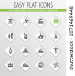 travel and wonders vector icons ... | Shutterstock .eps vector #1071469448