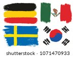 group f flags vector hand... | Shutterstock .eps vector #1071470933
