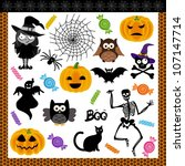 halloween night trick or treat... | Shutterstock .eps vector #107147714
