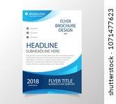 modern wavy business brochure... | Shutterstock .eps vector #1071477623