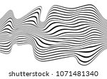 optical art wave abstract...   Shutterstock .eps vector #1071481340