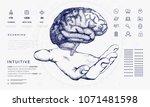human brain in innovations... | Shutterstock .eps vector #1071481598