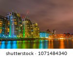 salford area of manchester with ...   Shutterstock . vector #1071484340