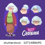 character grandmother with... | Shutterstock .eps vector #1071488690