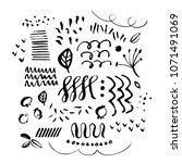 hand drawn paint grunge... | Shutterstock .eps vector #1071491069