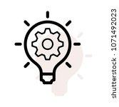 idea bulb setting  | Shutterstock .eps vector #1071492023
