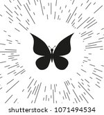 vector icon butterfly | Shutterstock .eps vector #1071494534