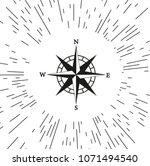 vector compass icon | Shutterstock .eps vector #1071494540