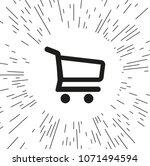 vector icon shopping cart | Shutterstock .eps vector #1071494594