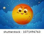 cute planet mars cartoon on... | Shutterstock .eps vector #1071496763