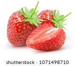 Isolated Strawberries. Two...