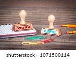 work life balance concept.... | Shutterstock . vector #1071500114