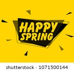 happy spring  square sign or... | Shutterstock .eps vector #1071500144