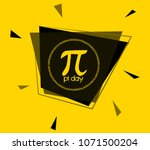 pi day  square sign or label... | Shutterstock .eps vector #1071500204