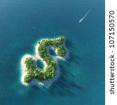 success way. tropical island in ... | Shutterstock . vector #107150570