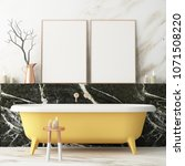 the interior of the bathroom is ... | Shutterstock . vector #1071508220