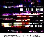glitch error signal tv failure... | Shutterstock .eps vector #1071508589