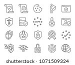 privacy policy icon set.... | Shutterstock .eps vector #1071509324