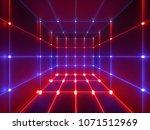 3d render  glowing lines  neon... | Shutterstock . vector #1071512969