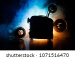 old style movie projector ... | Shutterstock . vector #1071516470