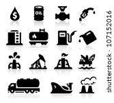 oil icons | Shutterstock .eps vector #107152016